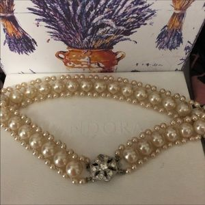 Jewelry - Antique pearl and cz choker necklace